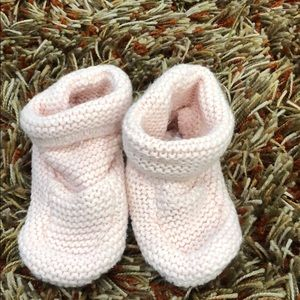 Baby Gap light pink booties 3-6 months